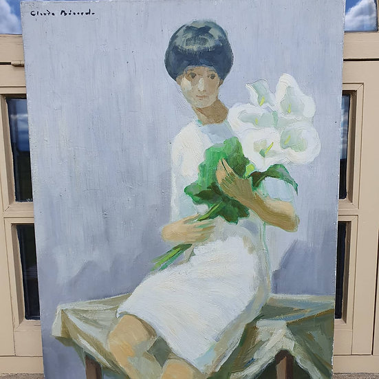Girl Holding Lillies