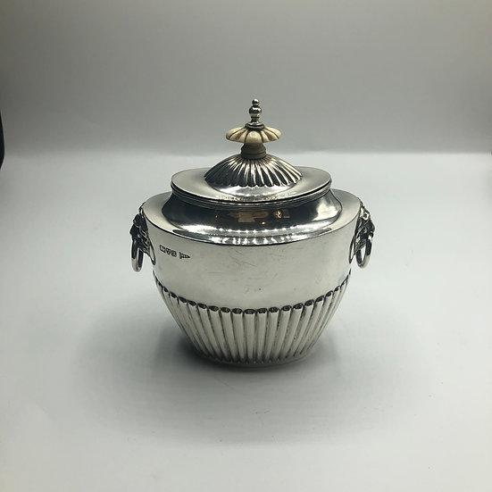 Walker & Hall Silver Tea Caddy