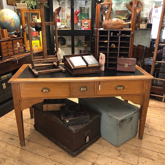 Desk with Leather Top