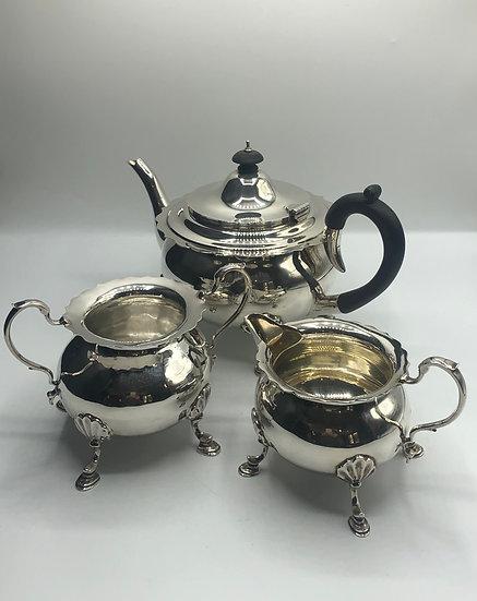 Goldsmiths & Silversmiths Silver Tea Service