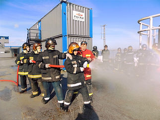 Fire safety training exercise