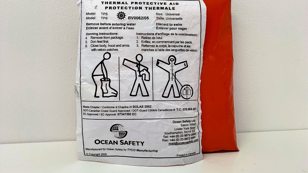 Ocean Safety Thermal Protection Aid (TPA)