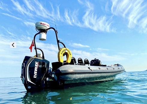 A rib charter boat