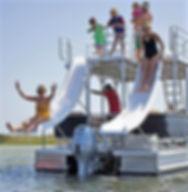 Double Deck Double Slide Pontoon Boat