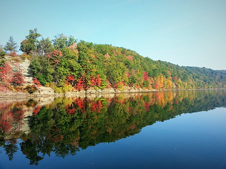 Fall colors on Sutton Lake WV