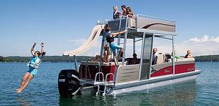 Fun Ship rental at Sutton Lake
