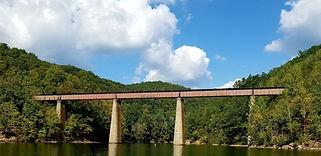 Sutton Lake railroad trestle