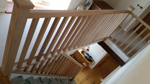 Oak stair refurbishment