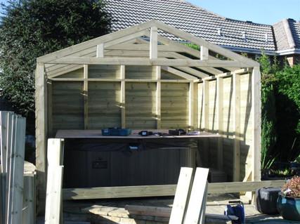 Hot tub house under construction