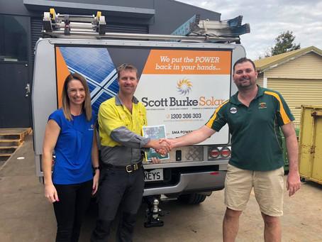 NEW SPONSORSHIP DEAL - Scott Burke Solar