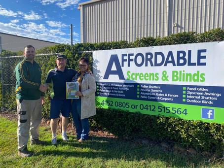 NEW SPONSORSHIP DEAL - Affordable Screens & Blinds