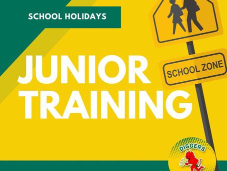 JUNIOR TRAINING - School Holidays