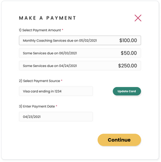 Founder Settings - Make a Payment (page 1)