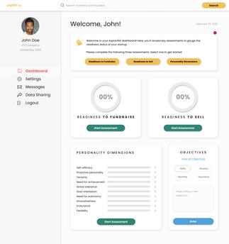Founder Dashboard - 1st Time Login