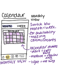 Sketch of Foresight monthly calendar view (unselected)