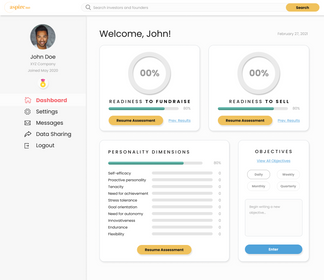 Founder Dashboard - Assessments in Progress