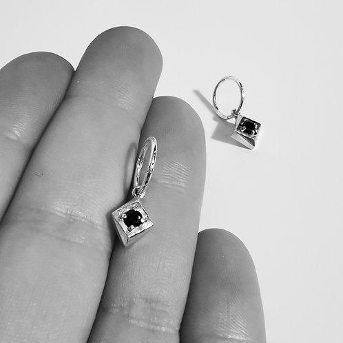 Set Diamond Hoops