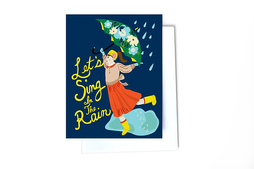 Let's Sing in the Rain Note Card