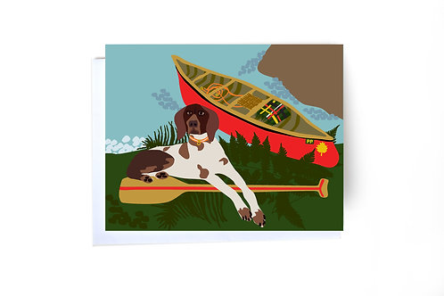 Dog & Canoe Note Card
