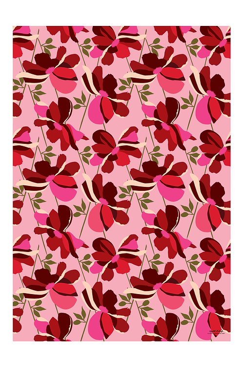 Lily Flower Wrapping Paper
