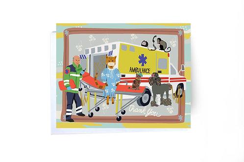 Ambulance Thank You Card