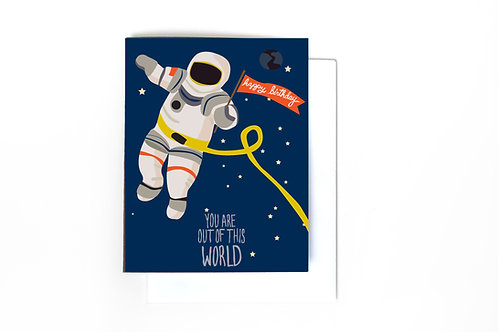 Out Of This World Birthday Note