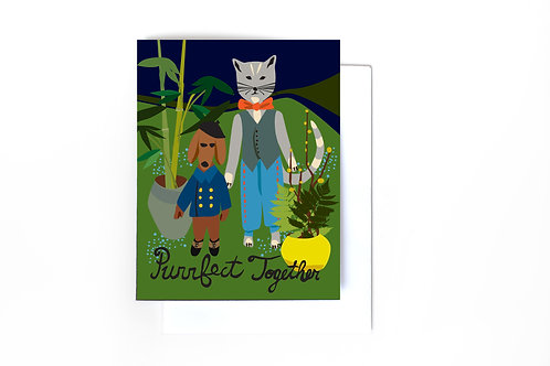Purrfect Together Note Card