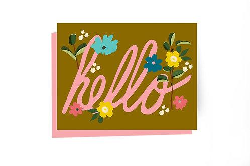 Hello Cursive Card