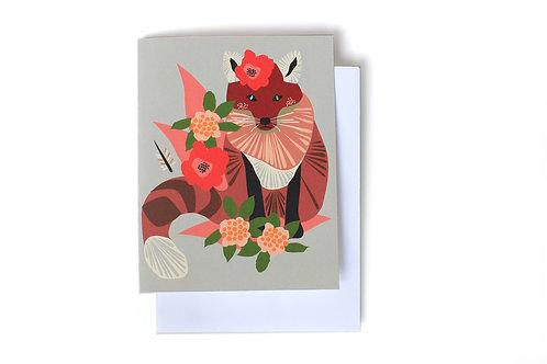 Freda Fox Note Card