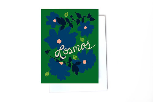Cosmos Note Card
