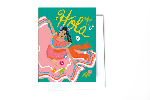 Hola Note Card