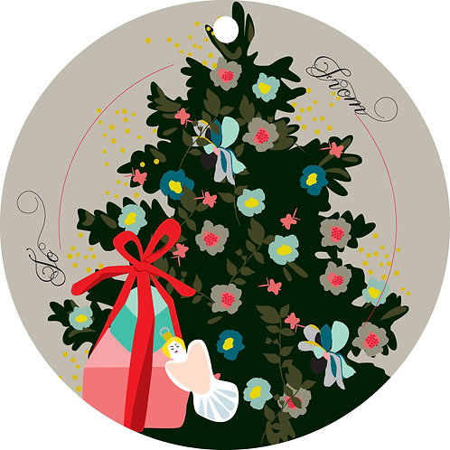 Around The Tree Gift Tags