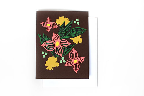 Night Bloom Note Card