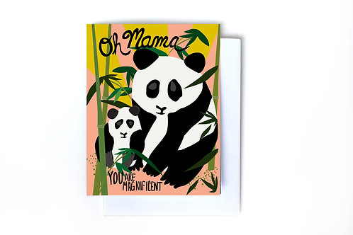 Magnificent Mama Panda Note Card