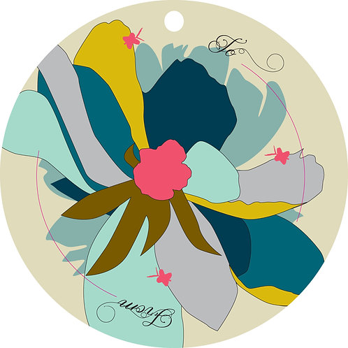 Midnight Flower Gift Tags