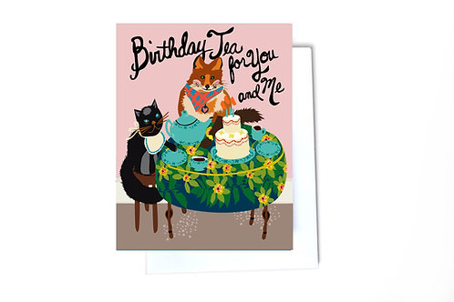 Birthday Tea Party Note Card