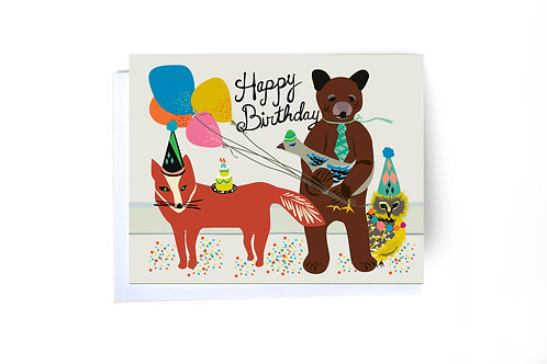 Birthday Gang Note Card