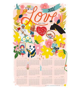 2021 Love Will Win Calendar