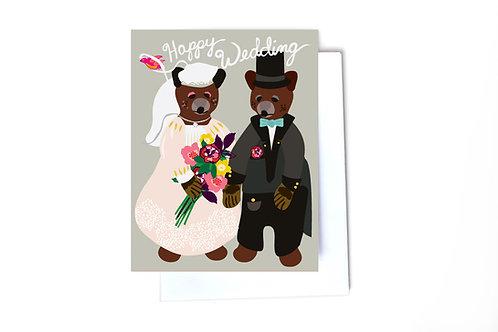 Happy Wedding Note Card
