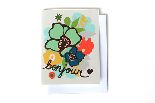 Bonjour Note Card