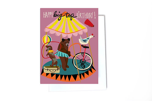 Big Top Birthday Note Card