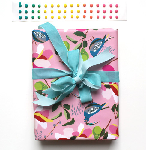 Pink Pear Gift Wrap