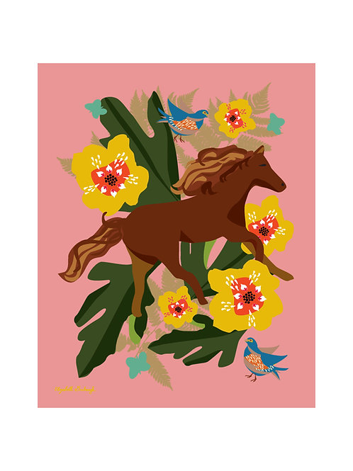 Run Free Horse Print