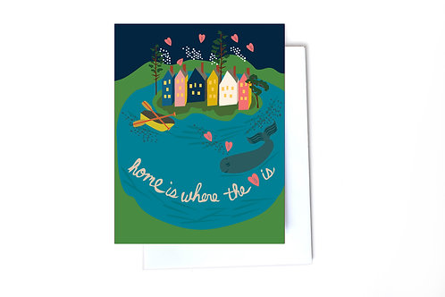 Home is where the heart is Note Card