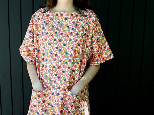 Garden Dress in Coral Sprinkle