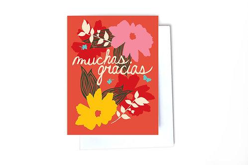 Muchas Gracias Note Card