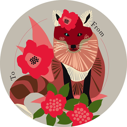 Frida Fox Gift Tags