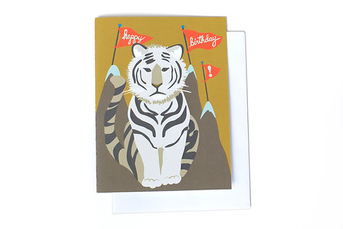 Happy Birthday Tiger Note Card