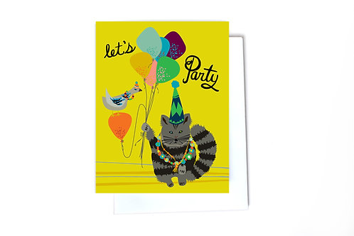 Let's Party Note Card