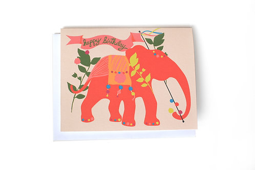 Elephant Birthday Note Card